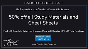 chemistry help center chemhelpcenter twitter first 100 people get 50% off everything chemistryhelpcenter org chemistry cheat sheets organicchemistry biochemistry cheatsheet