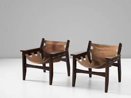 sergio rodrigues set of two kilin lounge chairs