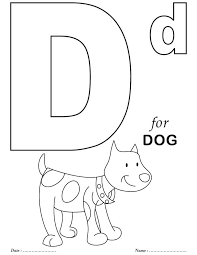 Printables Alphabet D Coloring Sheets School Alphabet Coloring