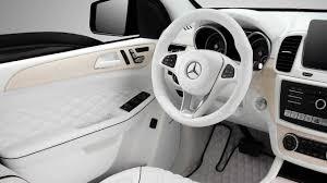 mercedes gle 2018 white. mercedes gle all-white interior topcar gle 2018 white