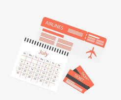 Travel Calendar Travel Ticket Passport Calendar Travel Vector Ticket Vector