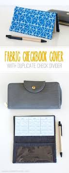 fabric check book cover with duplicate check divider via make it and love