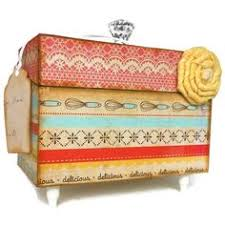 Decorative Recipe Box Recipe Box Red Vintage and Cream Decorative Box by BlissfulBoxes 91
