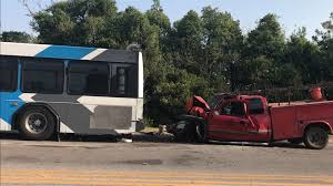 EMBARK bus hit by truck in northeast Oklahoma City | KFOR.com
