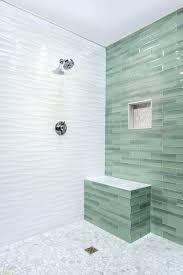 wavy subway tile bathroom