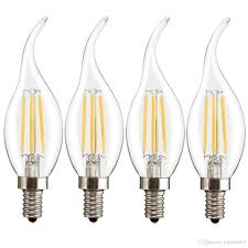 jiawen base e14 candle shape chandelier led filament edison light bulb 4 w e14 bulb led light bulb edison light bulb with 14 76 piece on