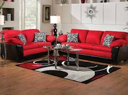 nice red and black living room sets