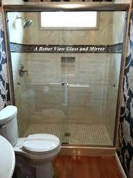 glass shower door coating 3 8 brushed nickel semi sliding glass shower doors with overture 2 glass shower door coating