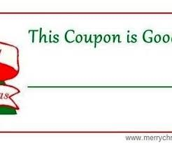 Blank Coupon Gift Template Sample with Red Color : Helloalive