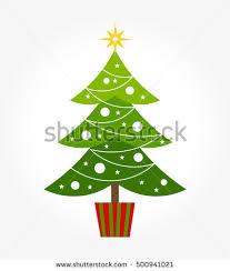 simple christmas tree vector. cute christmas tree. vector illustration simple tree