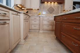 Flooring In Kitchen Kitchen Beautiful Kitchen Tile Floor Ideas Design With Beige