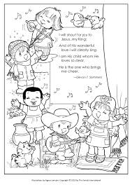 Small Picture Coloring Pages Shout for Joy and Father We Thank Thee