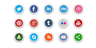 social media buttons transparent background. Social Media Clipart Png No Background ClipartFest Vector Free Download Throughout Buttons Transparent