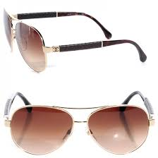 CHANEL Lambskin Quilted CC Sunglasses 4195-Q Gold Brown 77151 & CHANEL Lambskin Quilted CC Sunglasses 4195-Q Gold Brown Adamdwight.com