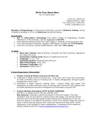Manual Testing Fresher Resume Samples Resume Online Builder