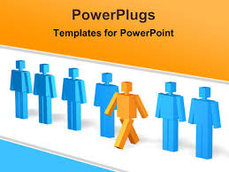 powerpoint template line up of people a leader stepping ppt template he words get help here symbolizing the need to offer support and answers