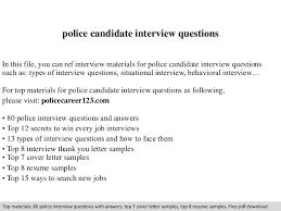 Police Interview Questions And Answers Police Candidate Interview Questions