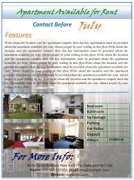 Rental Apartments Flyer
