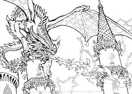 Scary Dragon Coloring Pages Print Scary Dragon Coloring Pages