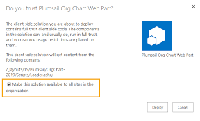 Plumsail Org Chart Installation Of Org Chart For Sharepoint 2019 As Wsp Package