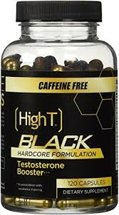 high t black caffeine free testosterone booster pre workout formulation 120 capsules