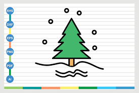 Christmas Tree Graphic By Galaxy Aart Creative Fabrica