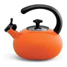 tea kettle  orange tea kettles orange copco tea kettle orange