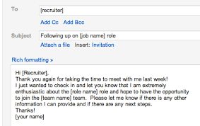 Brilliant Ideas Of Sample Follow Up Email After Interview Regarding