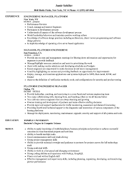 Platform Engineering Manager Resume Samples Velvet Jobs