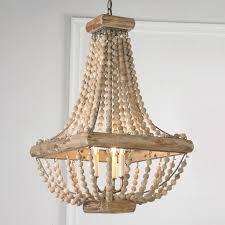 inspiration wood bead chandelier