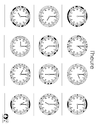 Telling Time In French Worksheets Free Worksheets Library ...