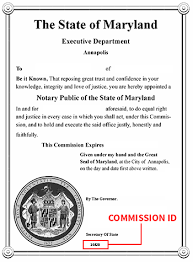 Rapidly Business Cards Secretary Notary The Maryland – Office Seal Of Division State