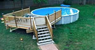 cost of above ground pool with deck installed pa above ground swimming pool cost above
