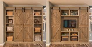 barn door media center. Open The Barn Doors For An Entertainment Center And Close Them A Bookshelf \u2013 Brilliant! Door Media I
