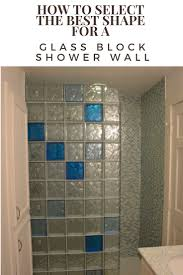 How to select the best shape for a glass block shower wall