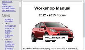 2012 2013 ford focus workshop repair 2013 Ford Focus Wiring Diagram 2013 Ford Focus Dash Wire Schematic