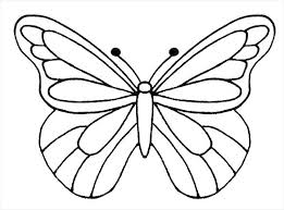 Printable Butterfly Outline Printable Butterfly Template Provadia Info