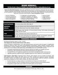 Engineer Resume Sample Engineering Resume Examples Architectural