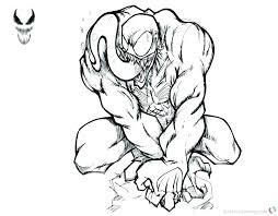 Venom Coloring Page Hiscafulcom