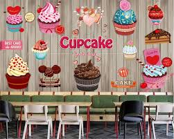 Beibehang Personality Fashion Wallpaper Paper Cup Cake Coffee
