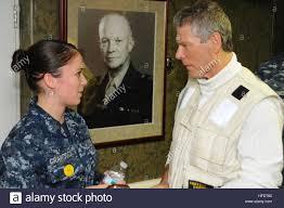 U S Navy Yeoman Seaman Stephanie Grawcock Left Assigned