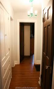 White Door Black Trim Painted Hallway Trim White House Black Shutters