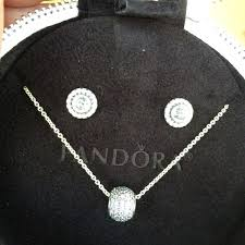 pandora necklace and earring set starlight retired signature sets