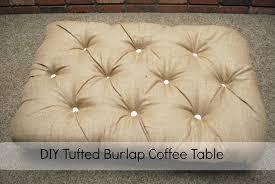 Diy Coffee Table Ottoman Diy Tufted Burlap Ottoman Classy Clutter