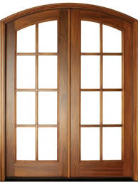 mahogany full view sdl 8 lite impact double door arch top