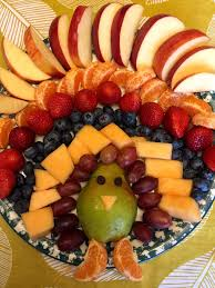 thanksgiving turkey shaped fruit platter lots of awesome thanksgiving recipes on this site