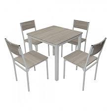 White Label Table De Cuisine Avec Chaises 4 Chaises Chêne à Prix