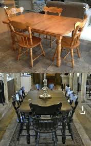 maple dining set refinished solid maple table was still sy and strong but finish