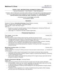 Sample Resume For Consultant Best Of A Sample Resume For A College Student Resume Samples For College