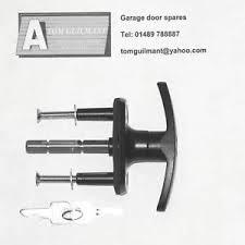 garage door lock handleKING Garage door handle T Bar lock in black  eBay